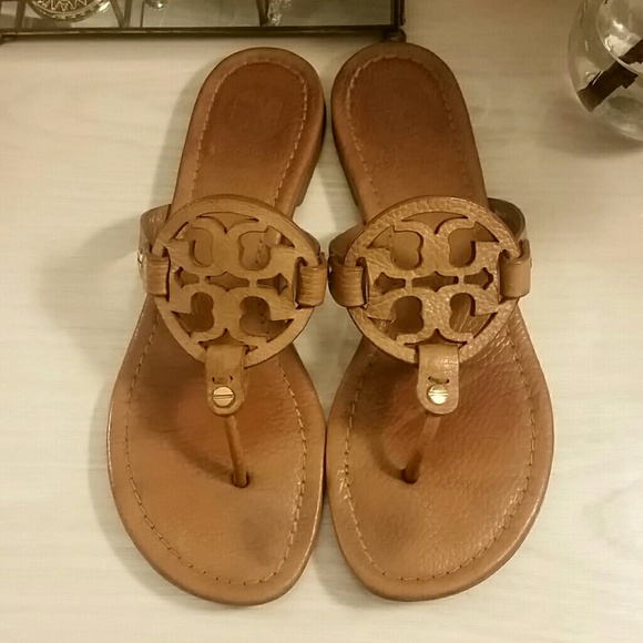 cae52996625a05 Tory Burch Miller Sandal in Tan Tumbled Leather. M 5a95ed4da4c48564438e1d0d